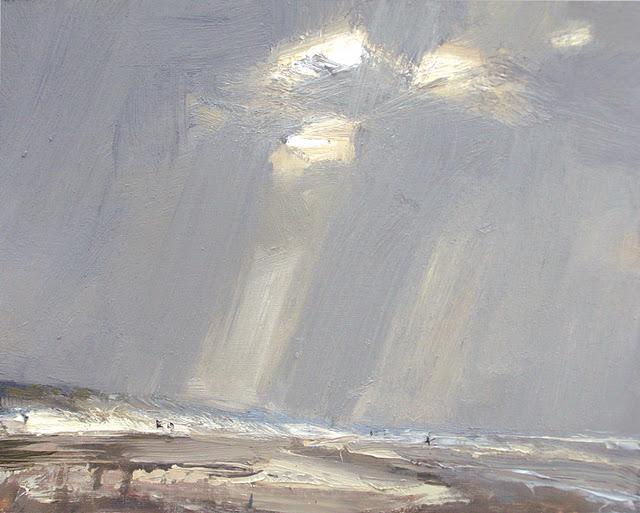 """Seascape winter #3 Cold 8 BFT"" original fine art by Roos Schuring"