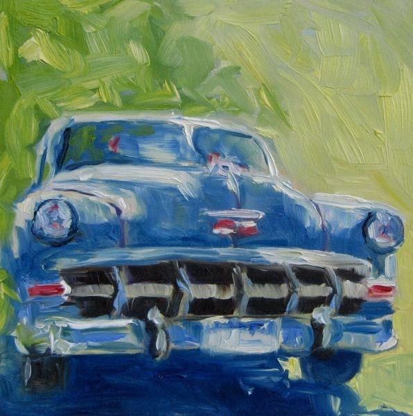 """Chevy"" original fine art by Mb Warner"
