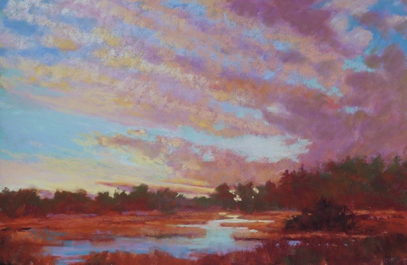 """Sundown"" original fine art by Ruth Mann"