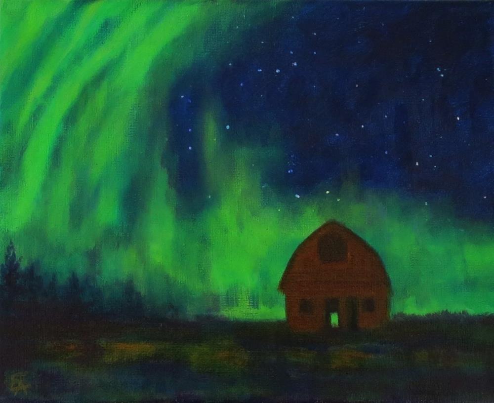 """Northern Light Magic"" original fine art by Elizabeth Elgin"