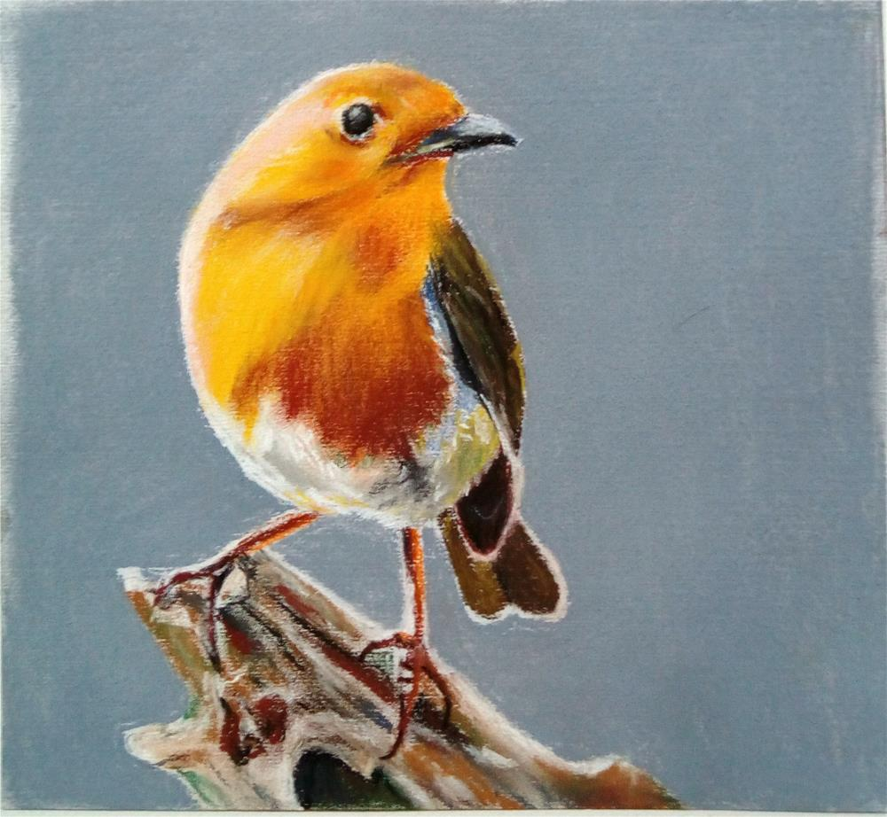 """The Little Robin"" original fine art by Laura B."