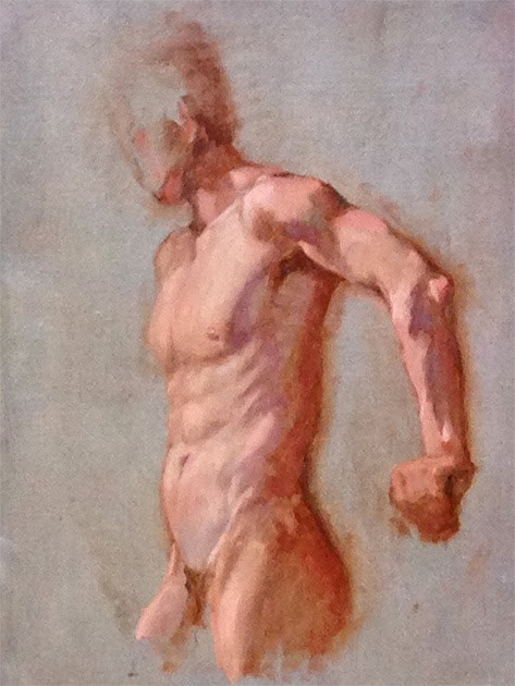 """Day 2 - Male Figure"" original fine art by Susan Matteson"