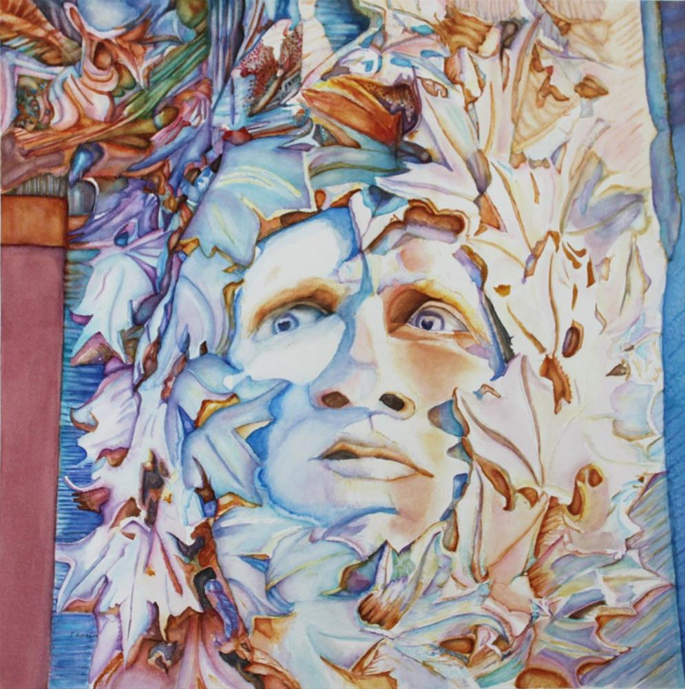 """Pierre, the Green Man"" original fine art by Christiane Kingsley"