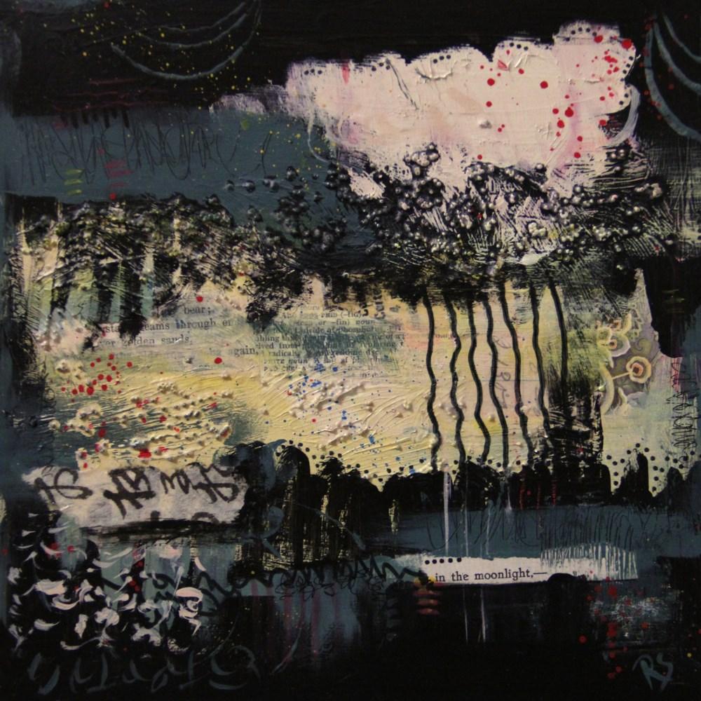 """""""In The Moonlight"""" original fine art by Roberta Schmidt ArtcyLucy"""