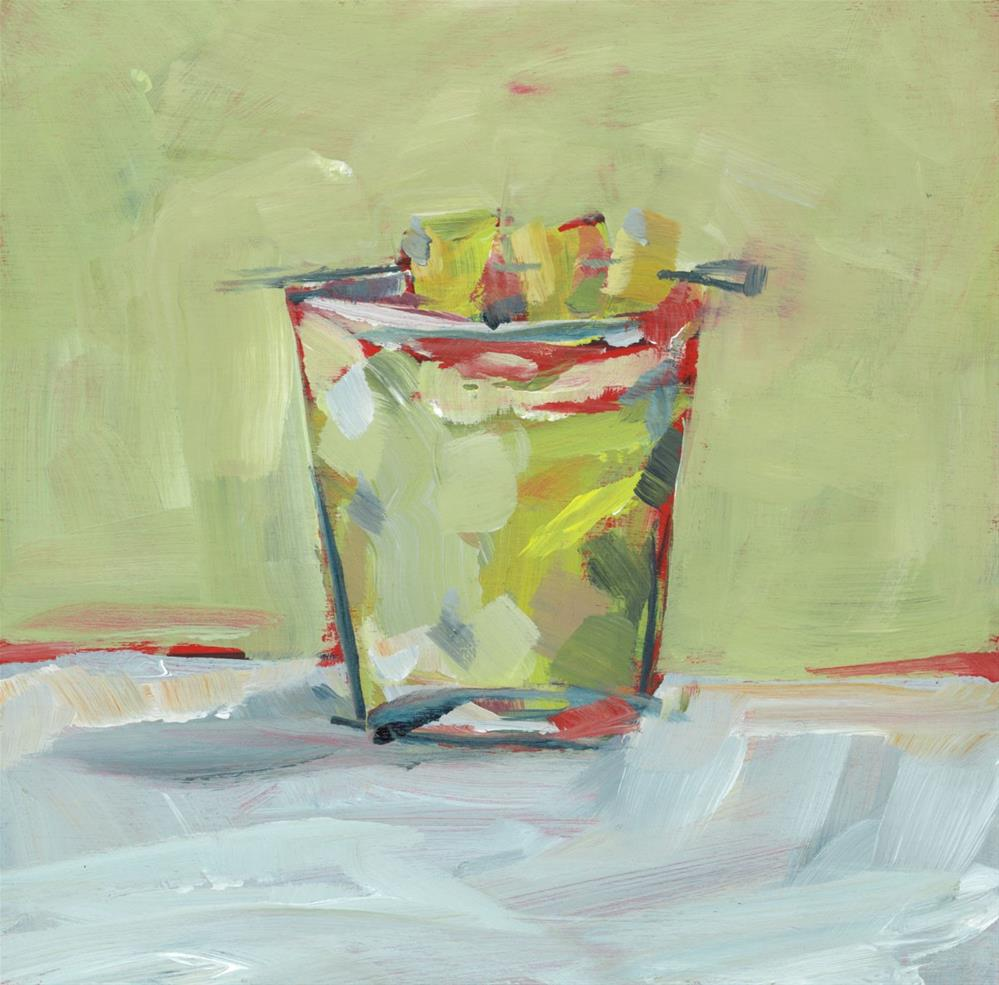 """1025: Pineapple Tumbler"" original fine art by Brian Miller"