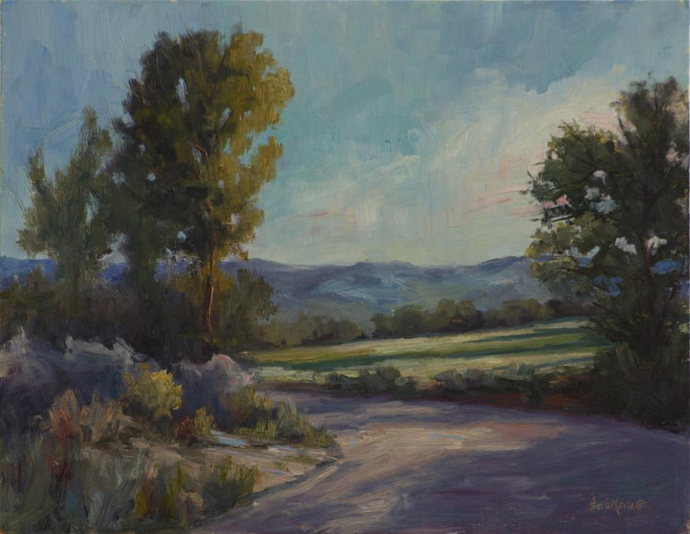 """""""Taos Late Afternoon"""" original fine art by Sheila Marie"""
