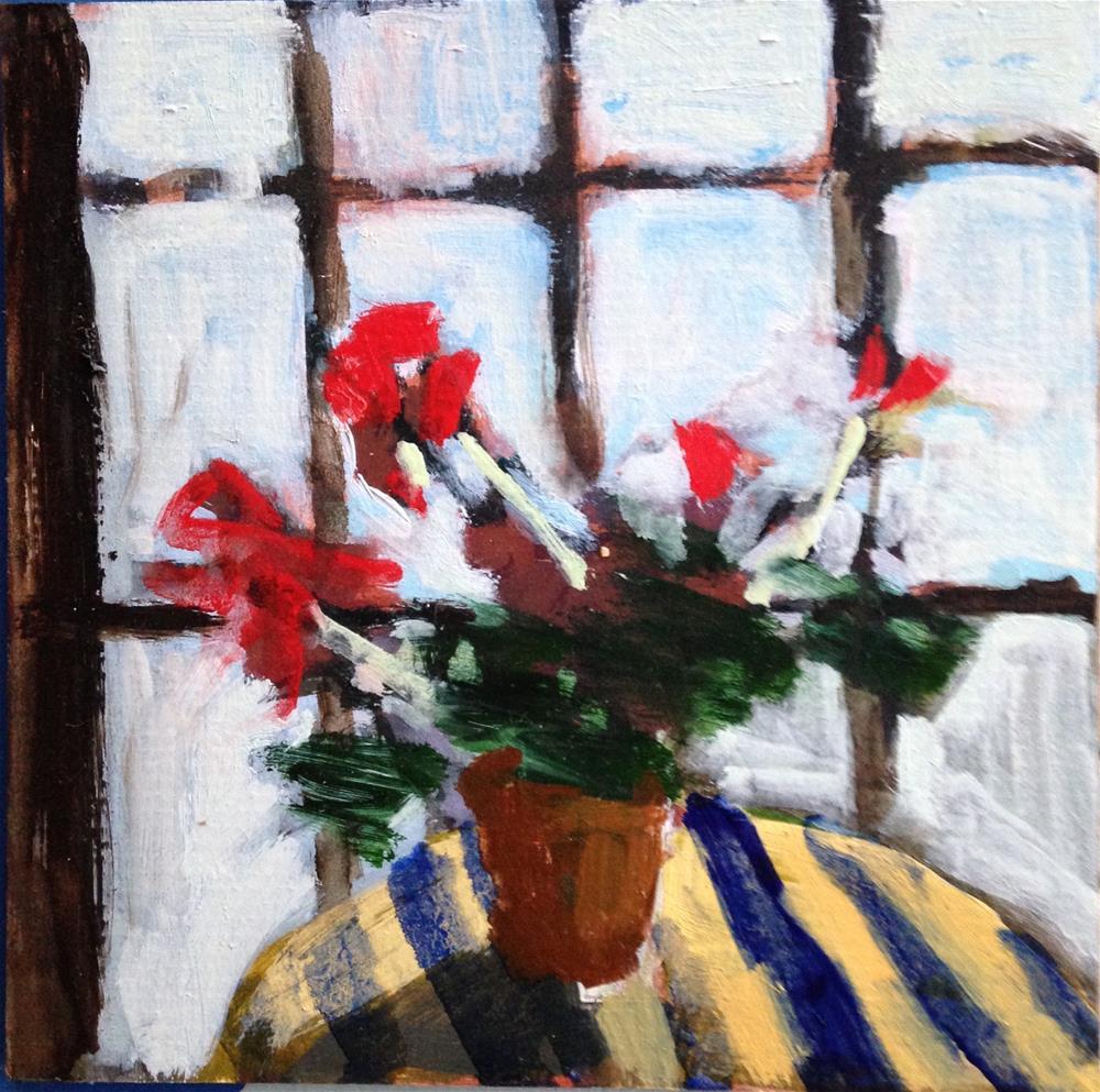 """Swedish Geraniums"" original fine art by Pamela Hoffmeister"