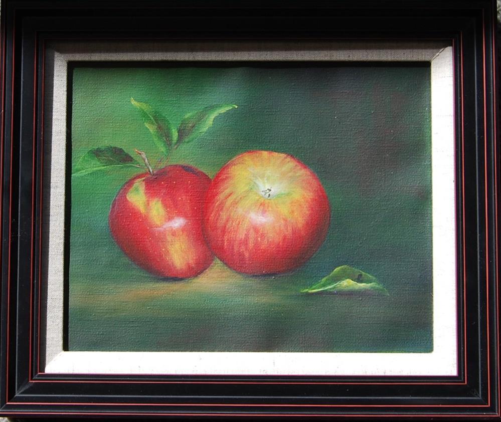 """""""A Pair of Apples"""" original fine art by Maureen Baker"""
