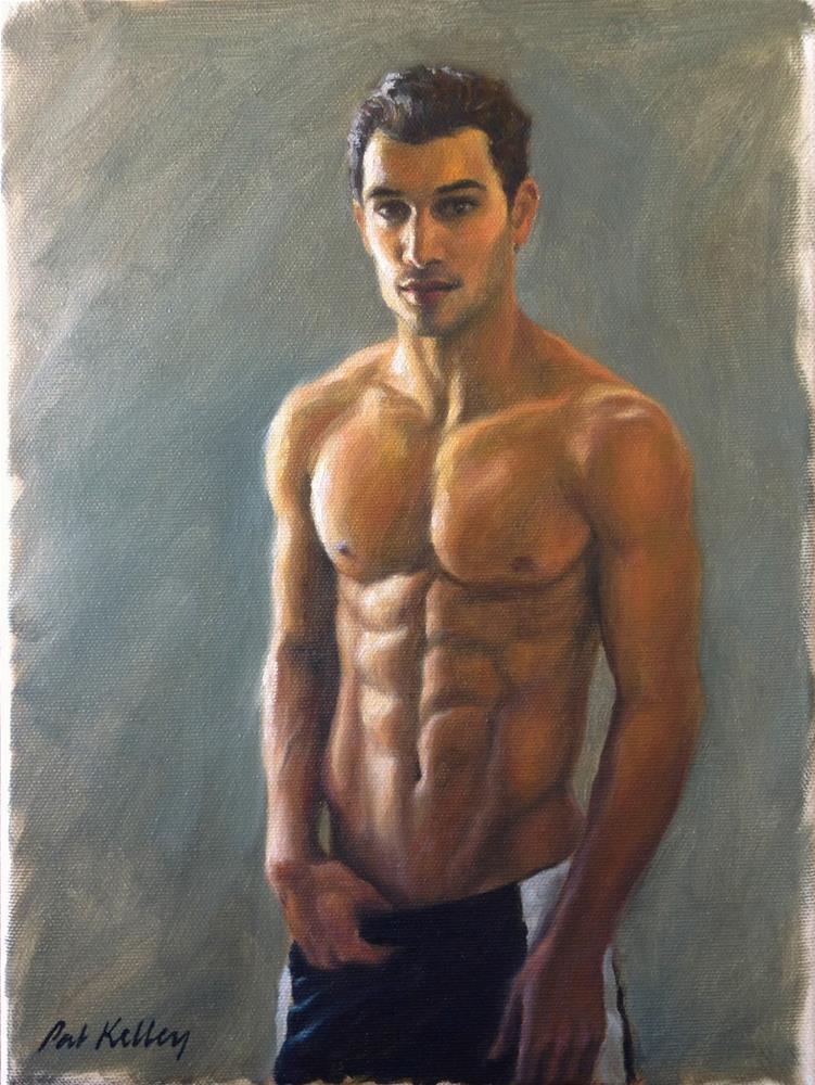 """""""Male Figure Study"""" original fine art by Pat Kelley"""