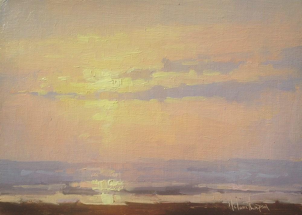 """Long Beach Sunset"" original fine art by Melanie Thompson"