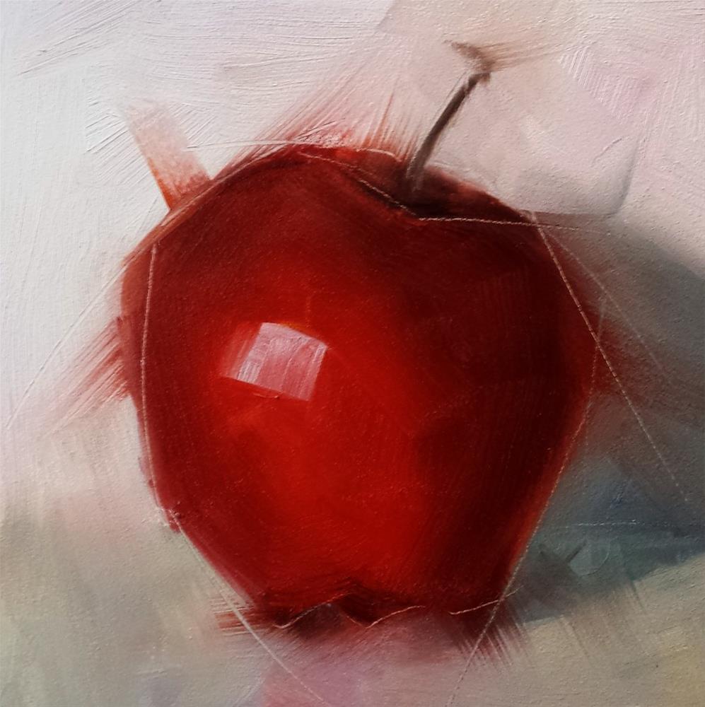 """Apple"" original fine art by Cindy Haase"
