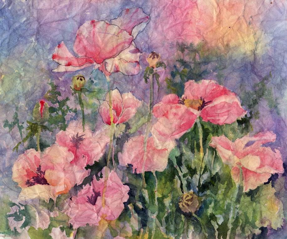 """""""Icelandic Poppies"""" original fine art by Sue Dion"""