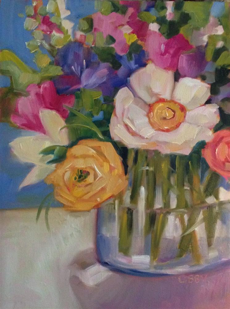 """Garden Club"" original fine art by Libby Anderson"