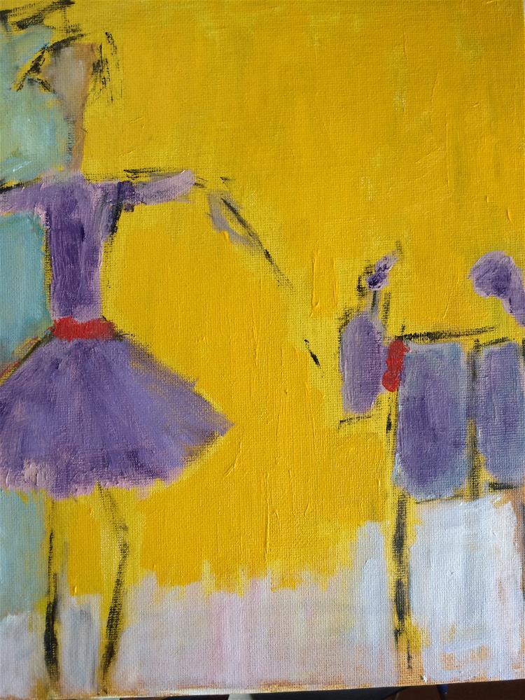 """Purple pet day at school"" original fine art by pamela kish"
