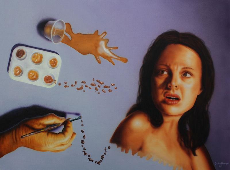 """Accidents Will Happen"" original fine art by Fred Schollmeyer"