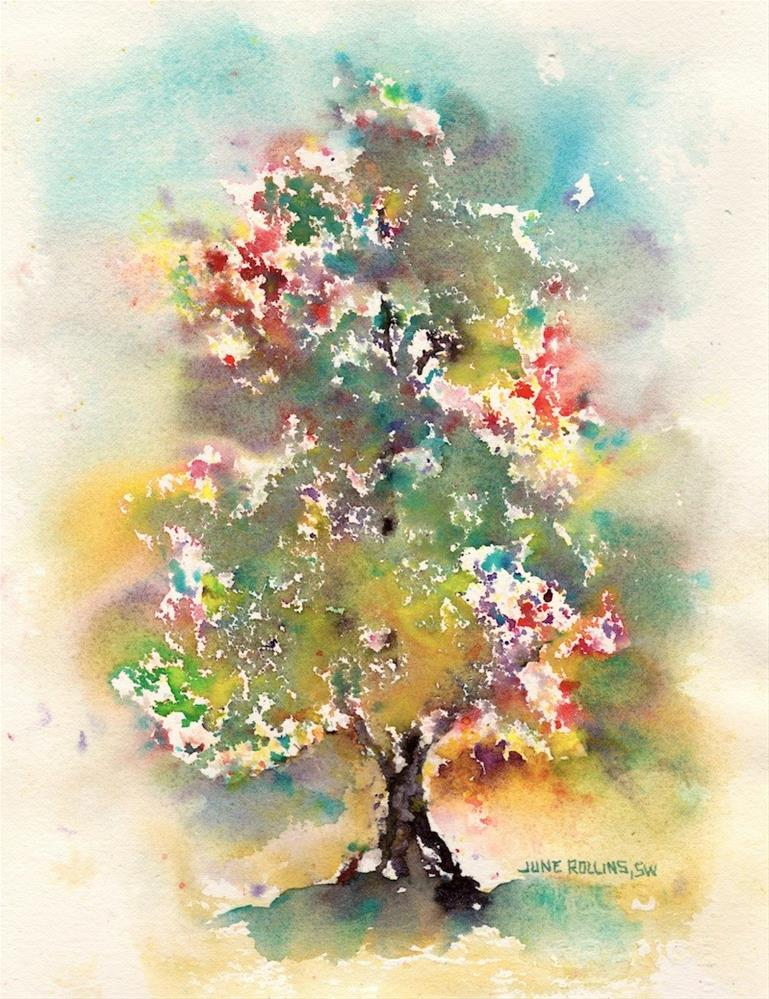 """Emerging Triad Tree"" original fine art by June Rollins"