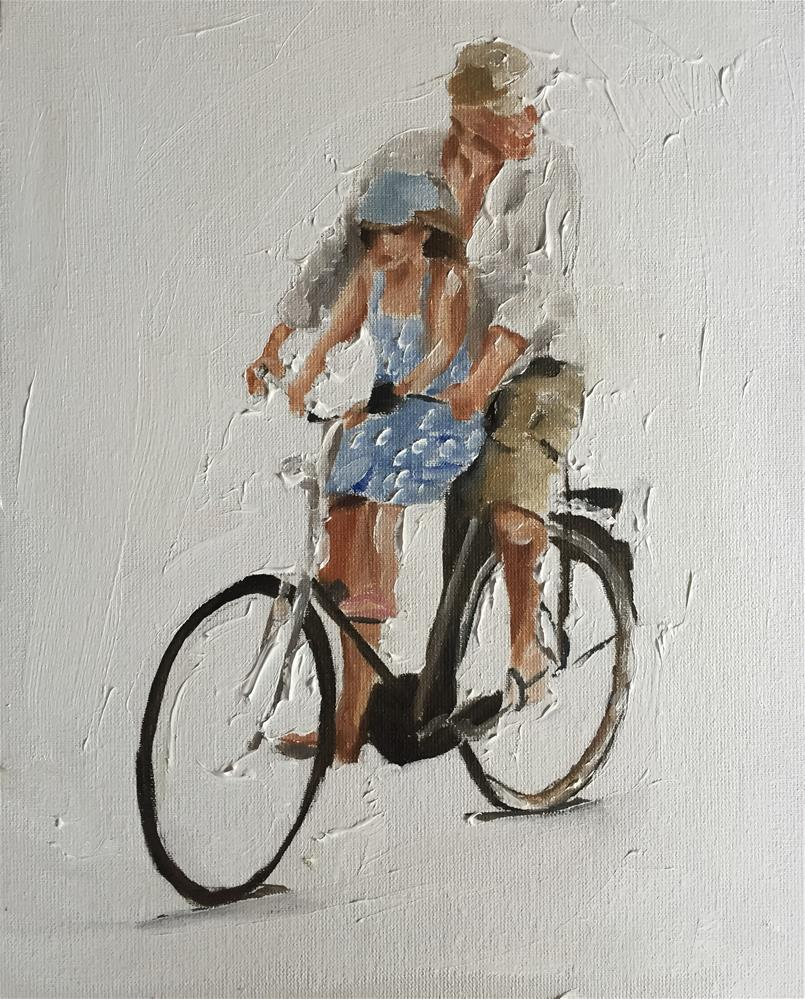 """A Lift With Dad"" original fine art by James Coates"