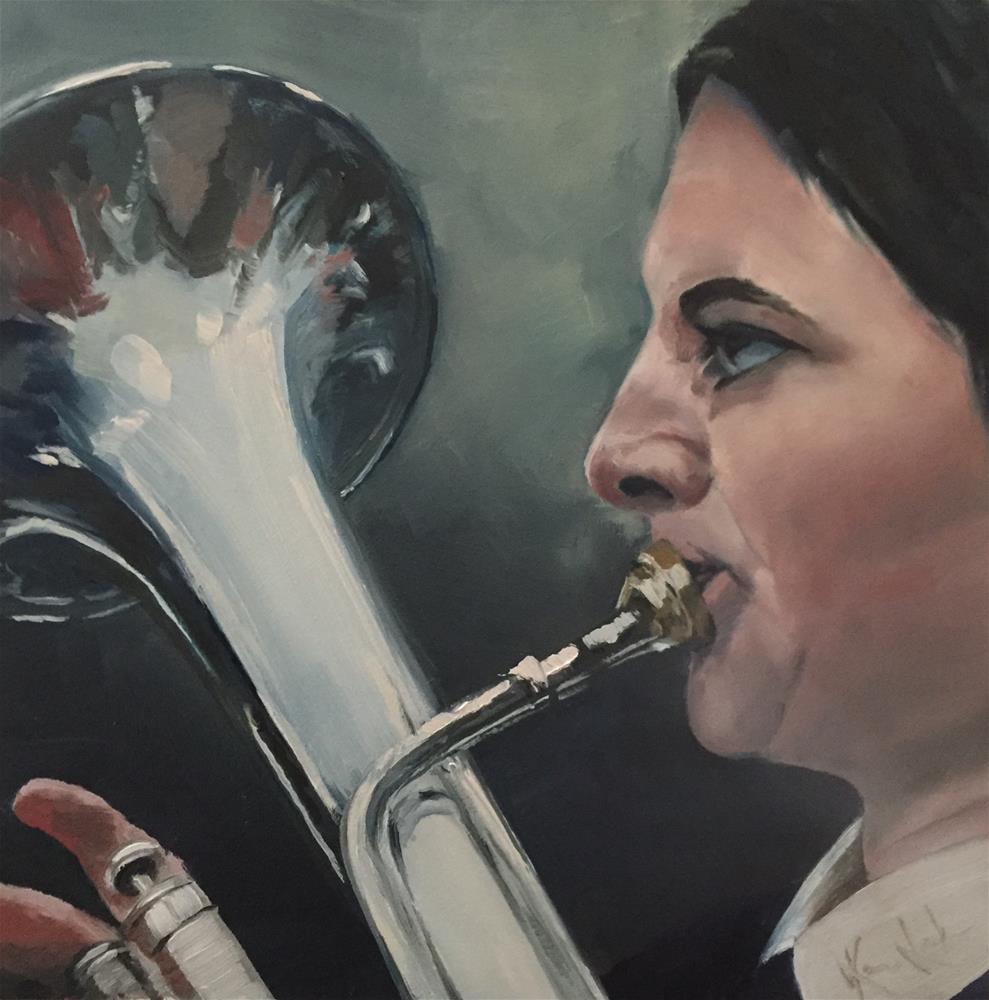 """Play on"" original fine art by Karen Laken"