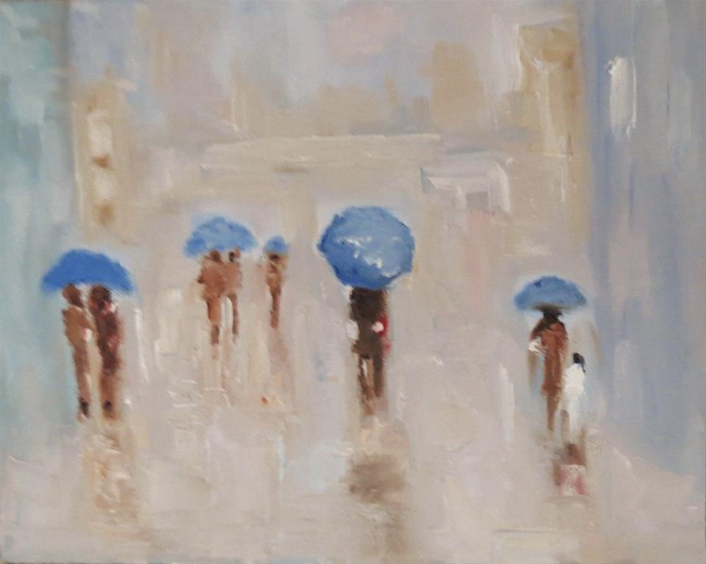"""Time for the umbrella"" original fine art by Astrid Buchhammer"