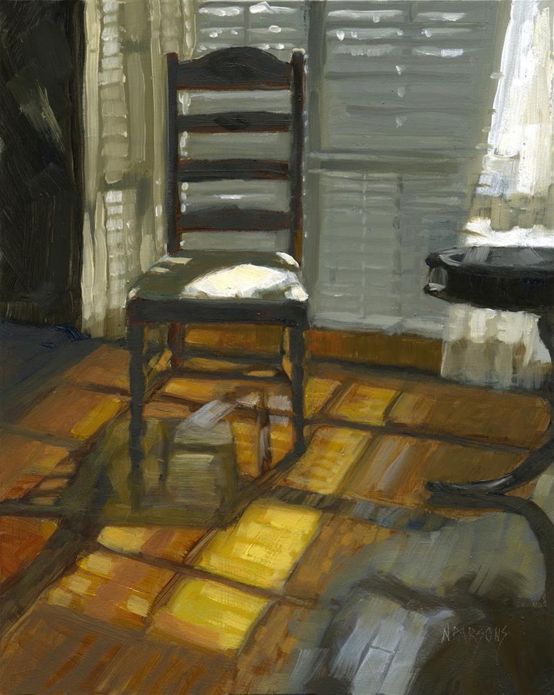 """SOLD-Darkness or Light?"" original fine art by Nancy Parsons"
