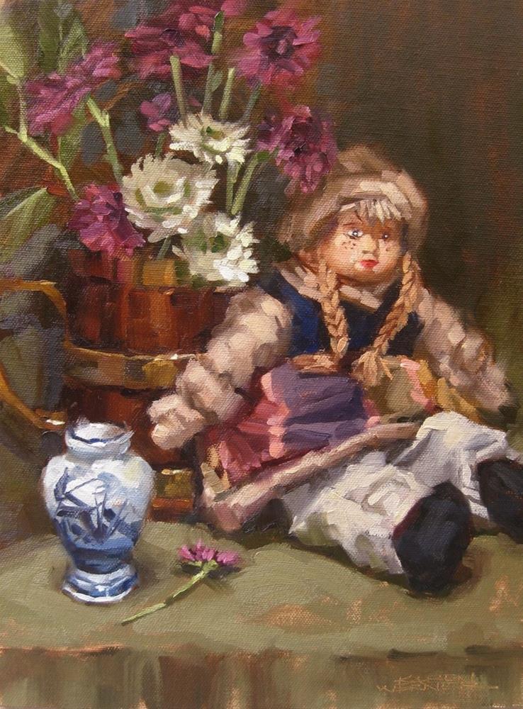 """""""Still Life With Doll"""" original fine art by Karen Werner"""