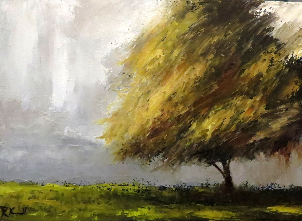 """""""Old Shade Tree in the Park"""" original fine art by Bob Kimball"""