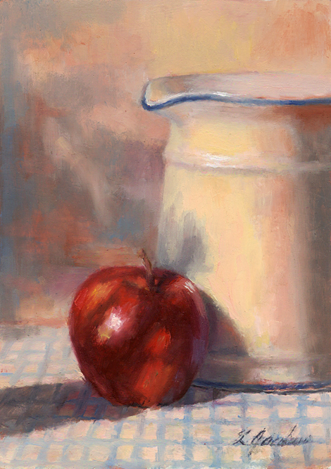 """Apple/Pitcher"" original fine art by Linda Jacobus"