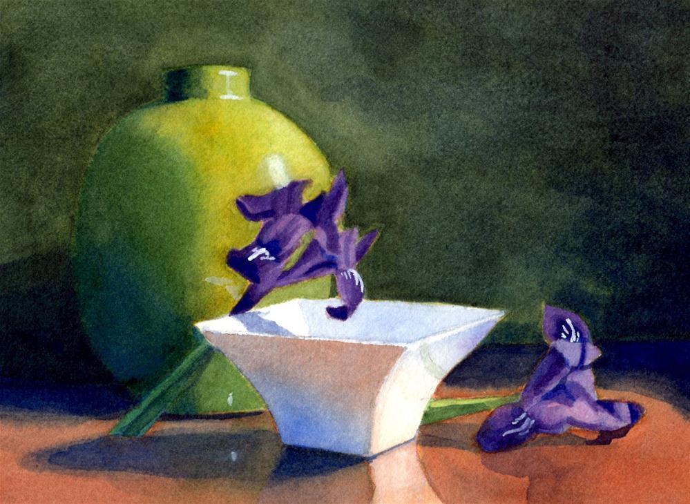 """Iris still life"" original fine art by Susan McManamen"