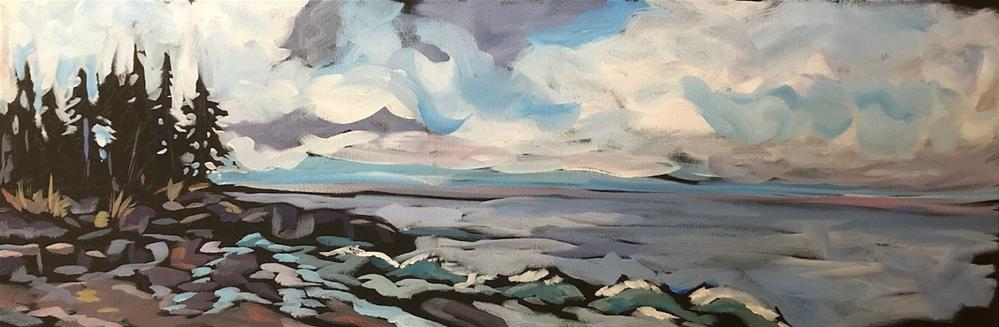 """Shoreline Longing"" original fine art by Kat Corrigan"