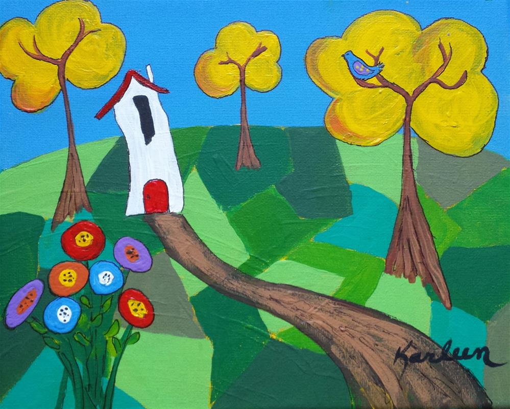 """""""The House in the Forest"""" original fine art by Karleen Kareem"""