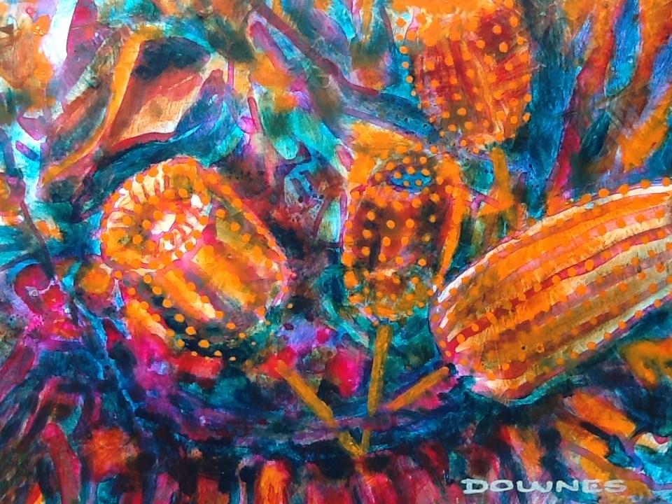"""004 BANKSIA 1"" original fine art by Trevor Downes"