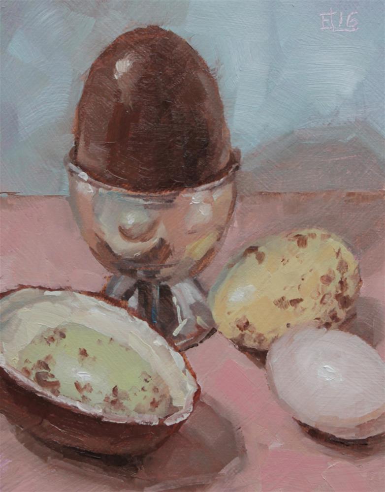 """Pastel Eggs"" original fine art by Emilia Leinonen"