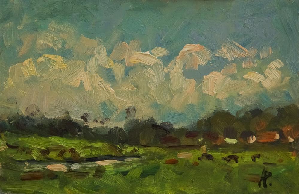 """Farmland near Goodwood"" original fine art by Andre Pallat"