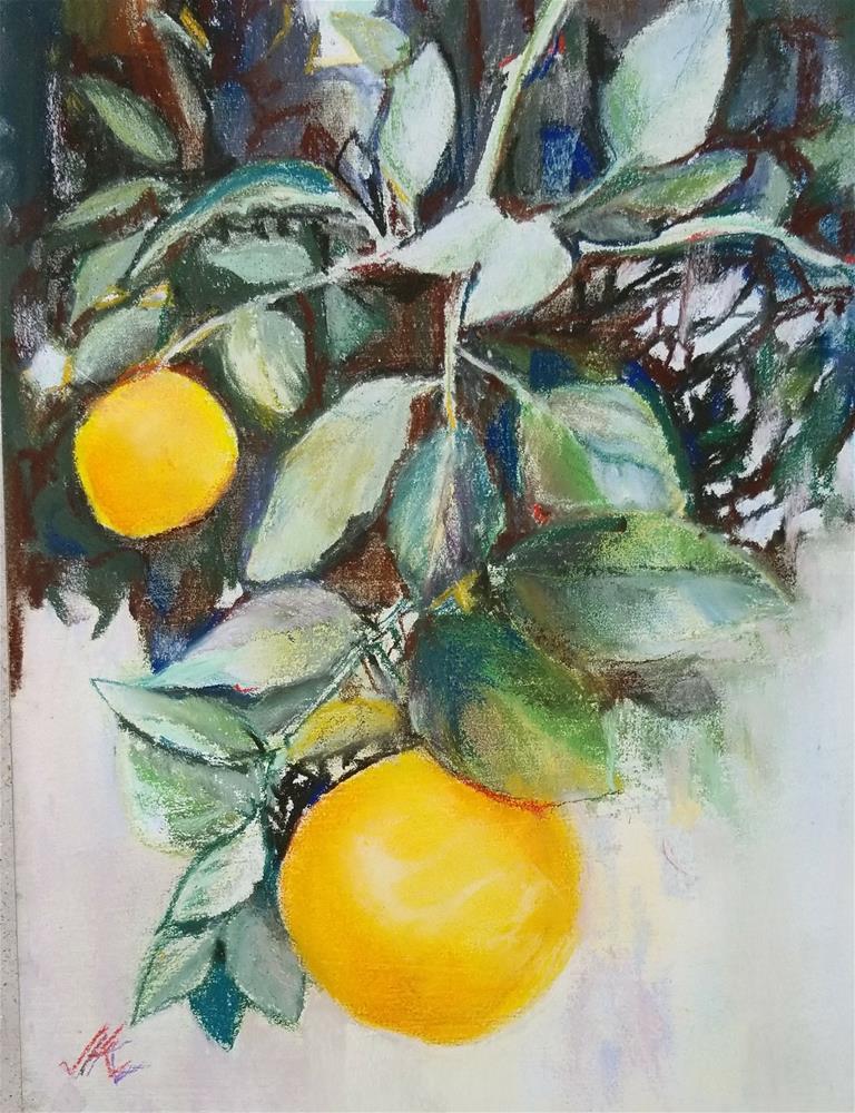 """December Orange"" original fine art by Jean Krueger"
