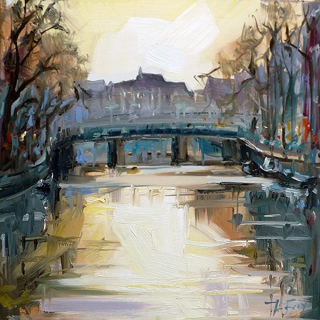 """Stadtbrücke"" original fine art by Jurij Frey"