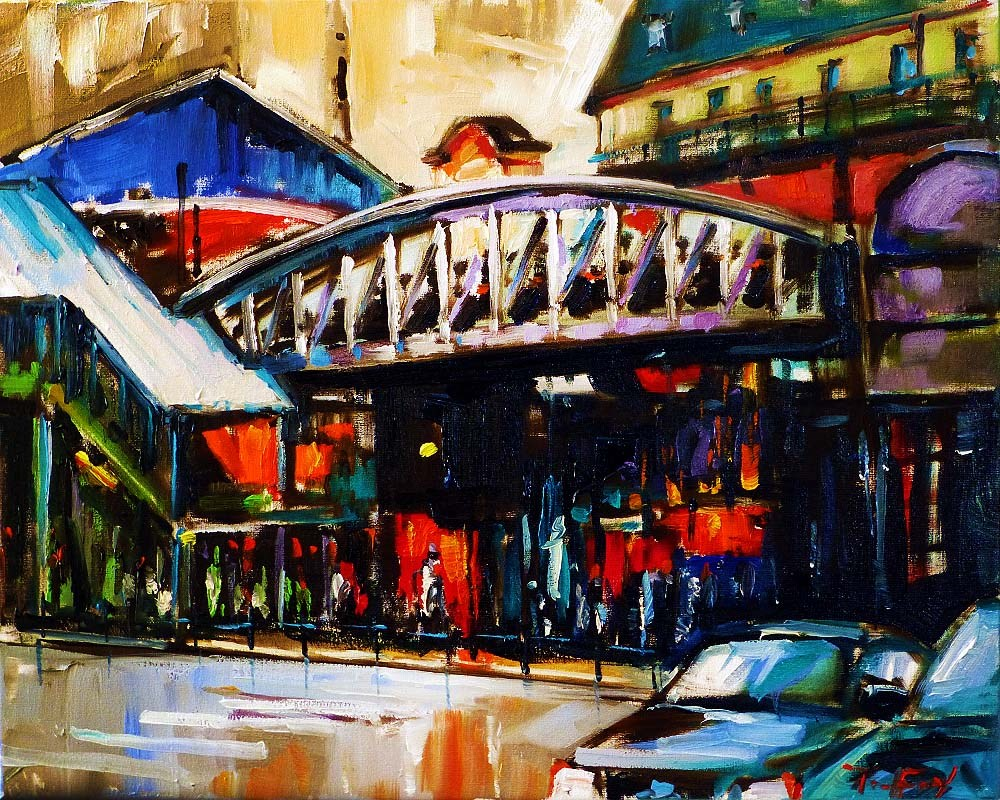 """Irgendwo in Paris"" original fine art by Jurij Frey"