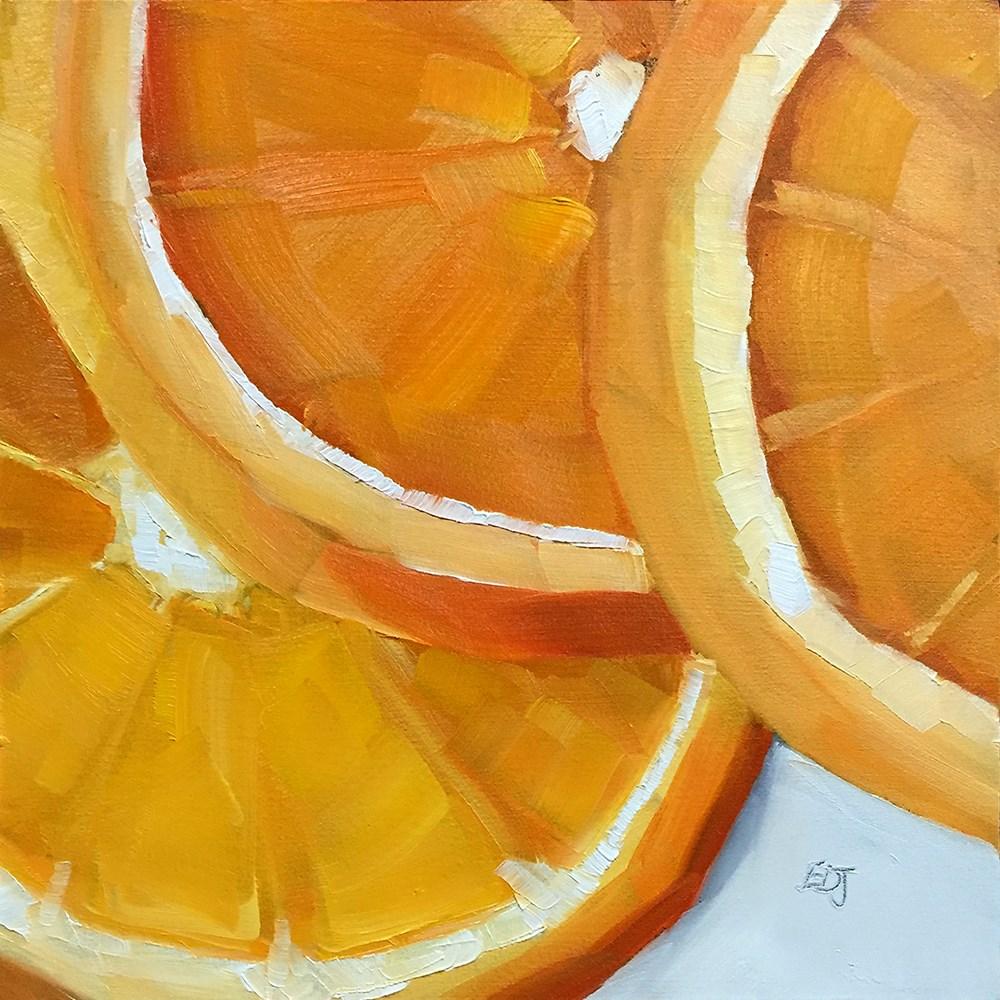 """""""Orange You Glad"""" original fine art by Elizabeth Dawn Johnston"""