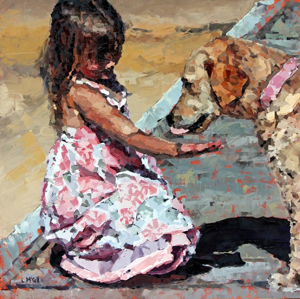 """Puppy Love III"" original fine art by Claire McCall"