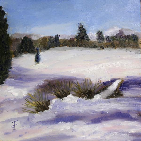 """Snowy Mounds"" original fine art by Jane Frederick"