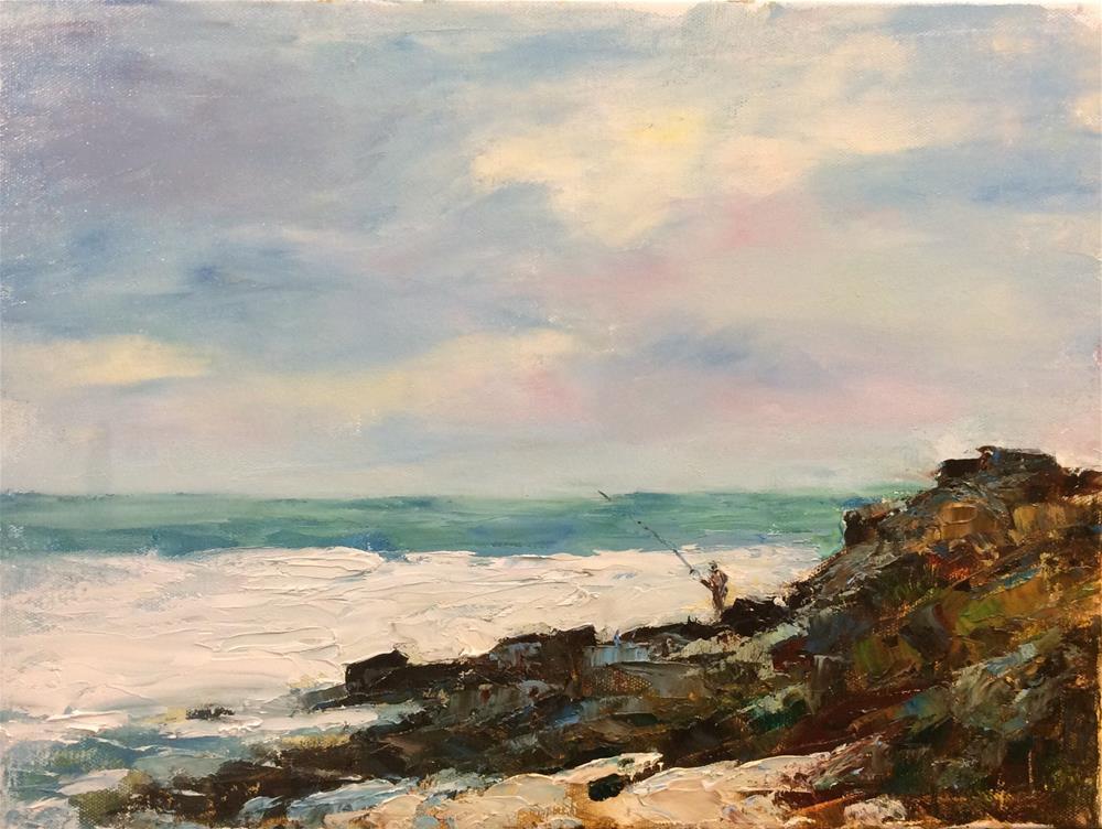 """Fishing on the Coast"" original fine art by John Shave"