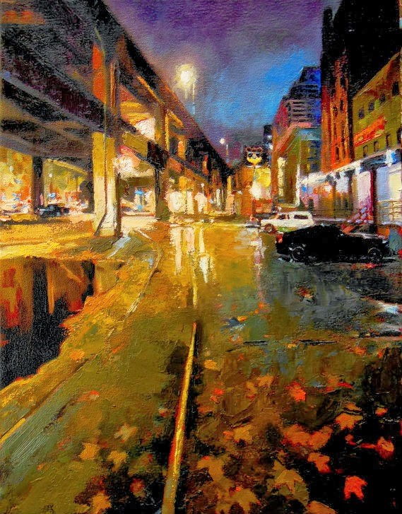 """""""Last Stand  Seattle City oil painting by Robin Weiss"""" original fine art by Robin Weiss"""