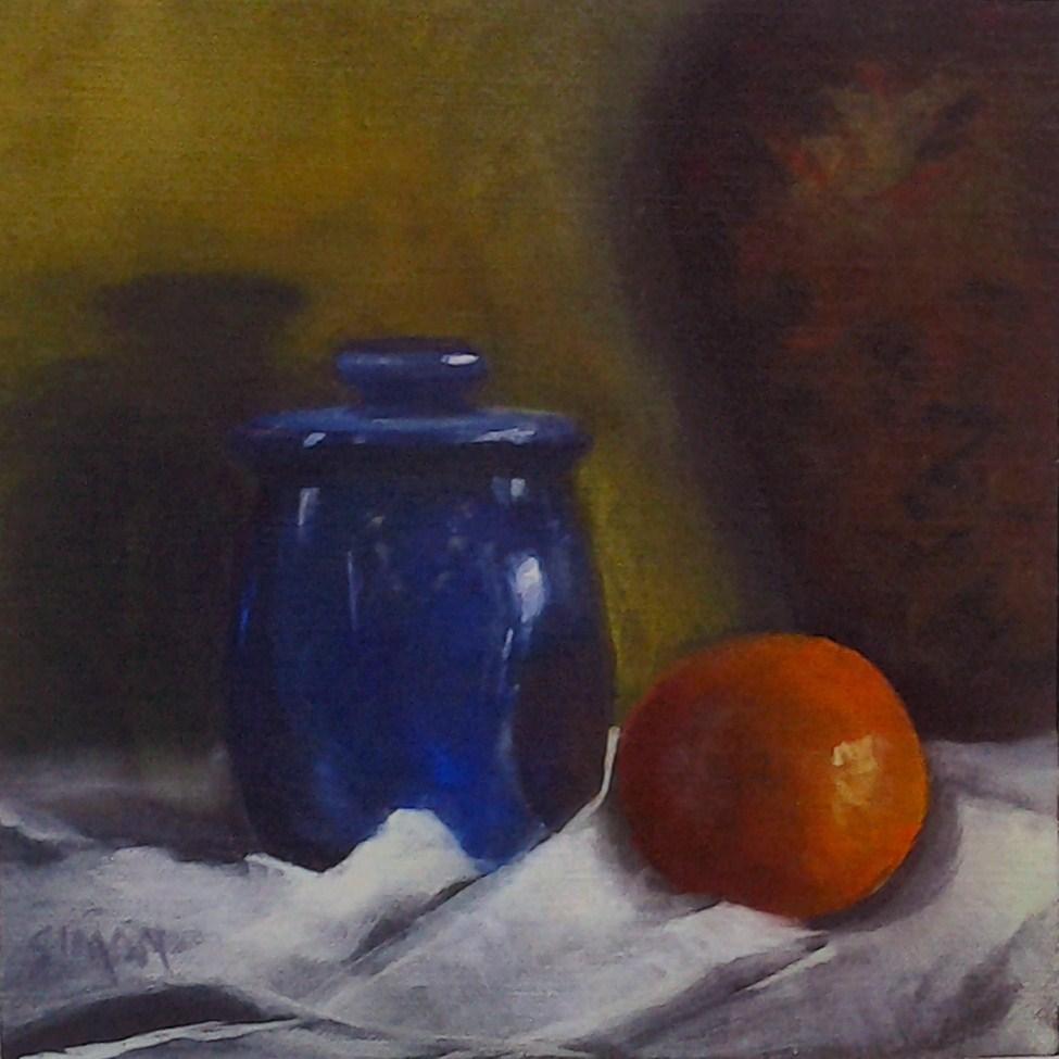 """""""Contained Cobalt"""" original fine art by A.K. Simon"""