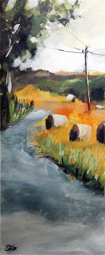 """""""3347 Hay Bales 01"""" original fine art by Dietmar Stiller"""