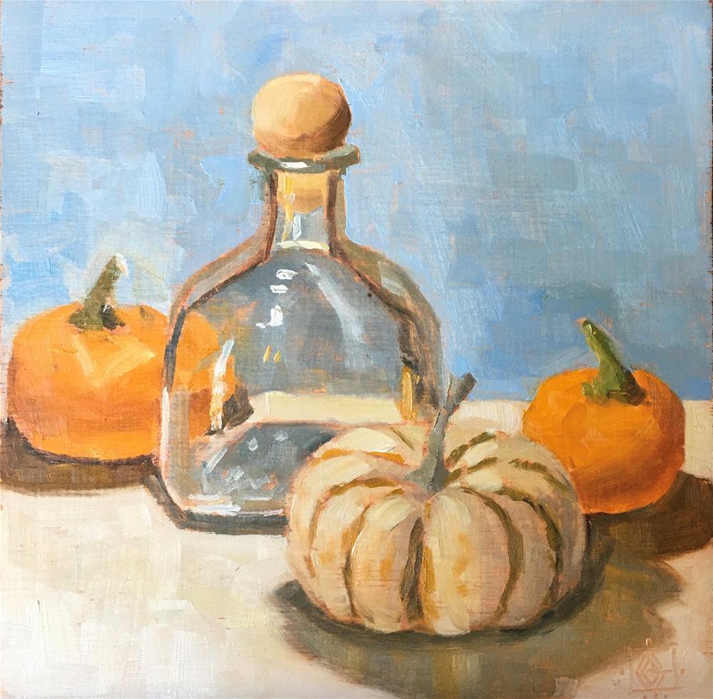 """Bashful Pumpkin"" original fine art by Carol Granger"