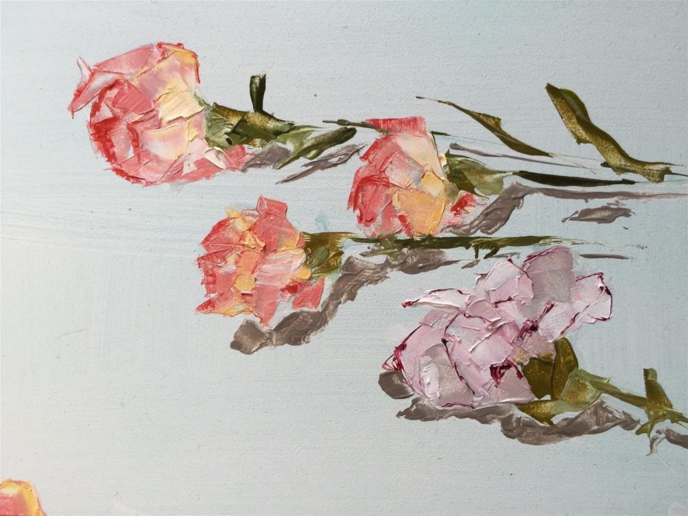 """""""152 Carnations"""" original fine art by Jenny Doh"""
