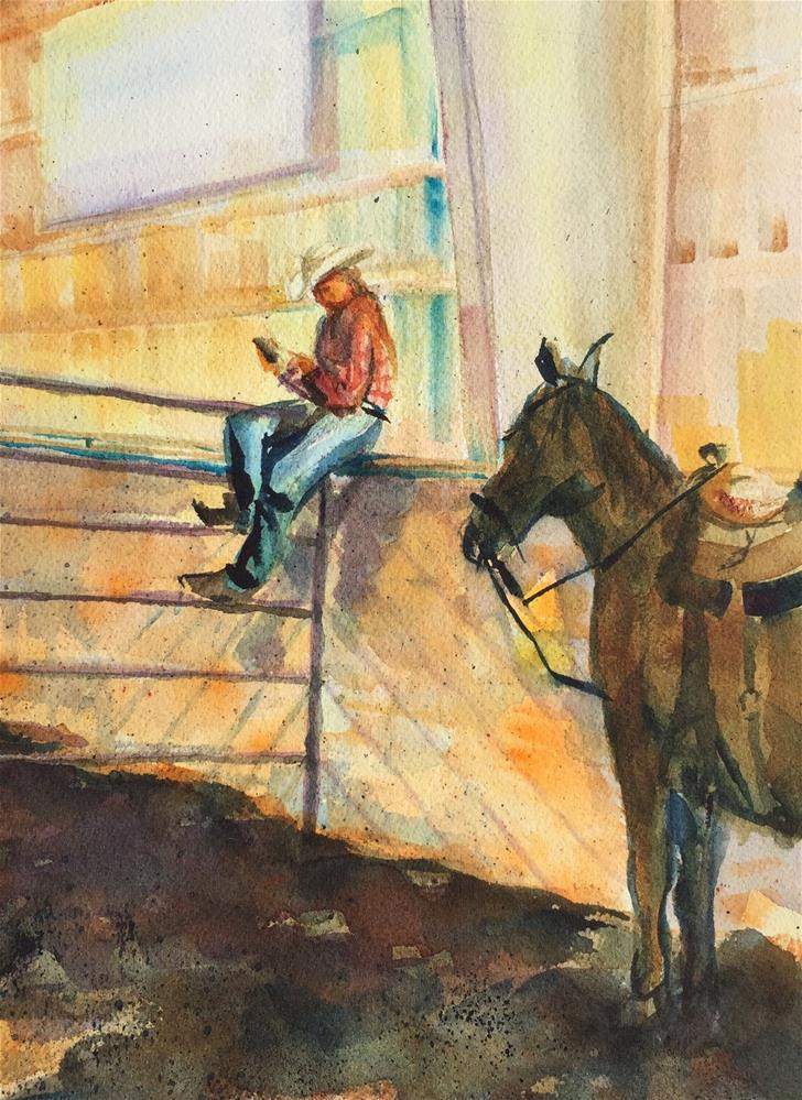 """Rodeo Email"" original fine art by Jean Krueger"
