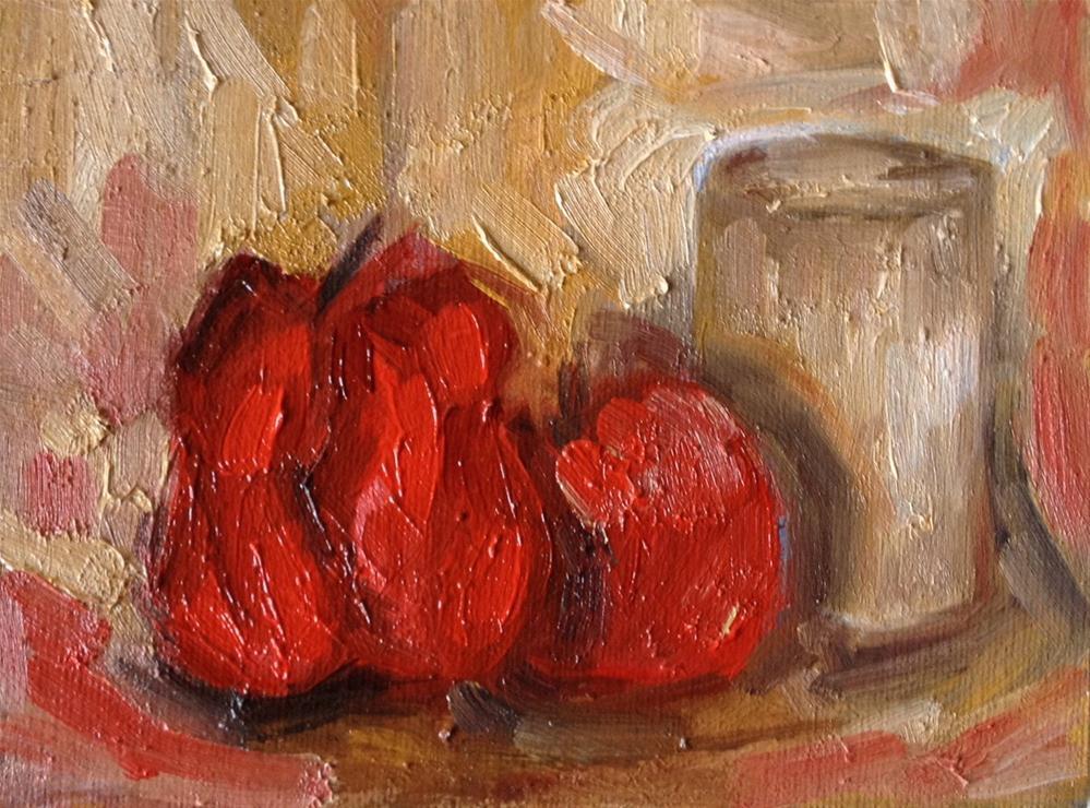 """""""Red Pepper"""" original fine art by Monica Pinotti"""