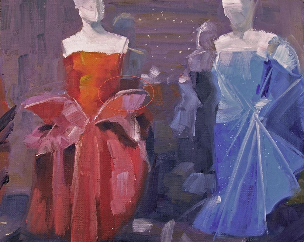 """Gowns"" original fine art by Nina Brodsky"