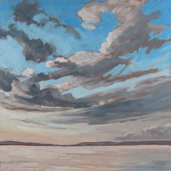"""Silver Sky, Waskesiu"" original fine art by Nicki Ault"