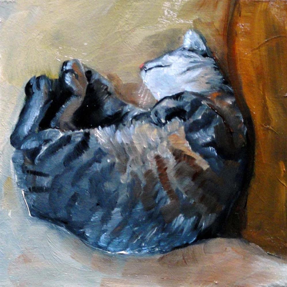 """Totally Relaxed"" original fine art by Cietha Wilson"